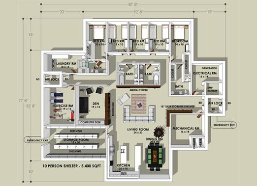 Hardened Home Floorplan